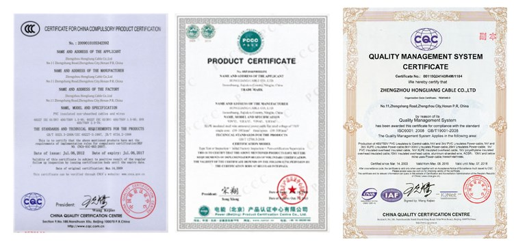 Huadong cable group certifications